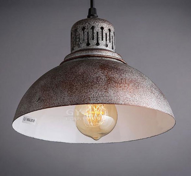 Retro Industrial rusty edison bulb Hanging Lamp Pendant Light vintage ...