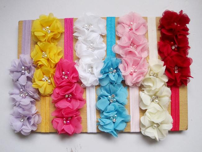 8pcs Kids Girl Baby Newborn Photography Props Toddler Children Flower Bebe Headband Hair Accessories Band Bow(China (Mainland))