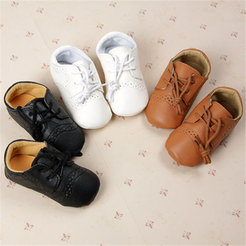 Baby Boy First Walkers Shoes Toddler Infant Newborn Boys Shoes Lace-Up Brand PU Leather New