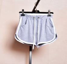 Workout shorts for womens gymnastic shorts white plus size sweating shorts black sweatpants ladies grey cotton exercise wear