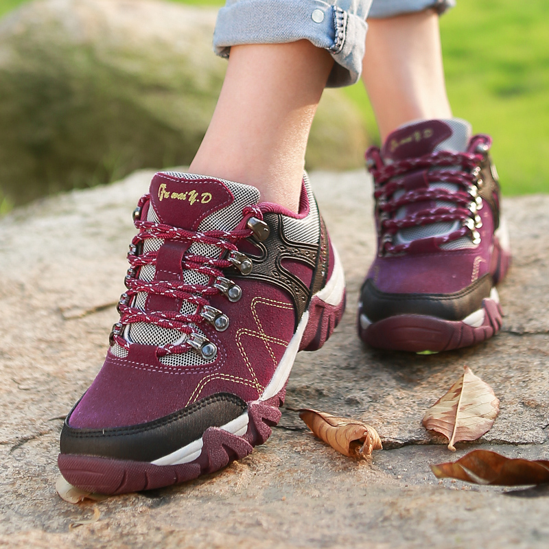 Free Shipping Brand Trekking Shoes Somix Women Hiking Shoes Waterproof 2016 Mens Hiking Boots Outdoor Shoes Size 36-44