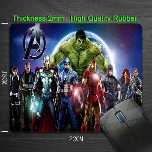 Free Shipping Cartoon Anime The Avengers Silicon Anti-slip Mouse Mats for PC Computer Laptop Notbook Gaming Mouse mat<br><br>Aliexpress