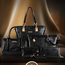 2015 New Hot Women Bags 6pcs set Women Leather Shoulder Bag Handbag Messenger Crossbody Tote Purse
