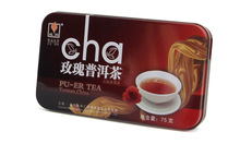 Hot Sale Black Tea Flavor Pu er rose Puerh Tea Chinese Mini Yunnan Puer Tea Gift