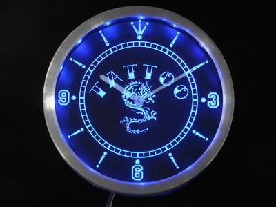 nc0357-b Tattoo Chinese Dragon Ink Bar Beer Neon Sign LED Wall Clock(China (Mainland))