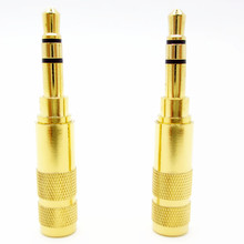 Free Shipping Gold-plated 3.5 mm Plug Audio Jack Earphone Adapter For DIY Stereo Headset Earphone or Used for Repair Earphone