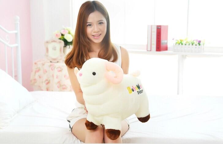 lovely plush sheep toy alpaca doll gift stuffed alpaca doll gift about 40x40cm(China (Mainland))