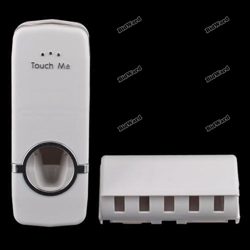 tradecode Automatic Portable Hands Free Touch Brush Toothpaste Dispenser And Holder Set [Hot](China (Mainland))