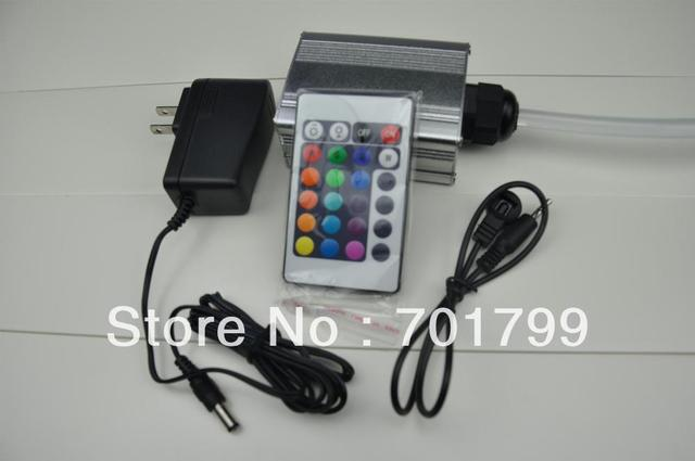5w led fiber light source,with 24key IR remote controller