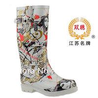 Free Shipping 2015 New Arrival Beauty Print Rainboots Fashion Women Rain Boots Shoes Rubber Boots Galocha Botas Femininas 2015