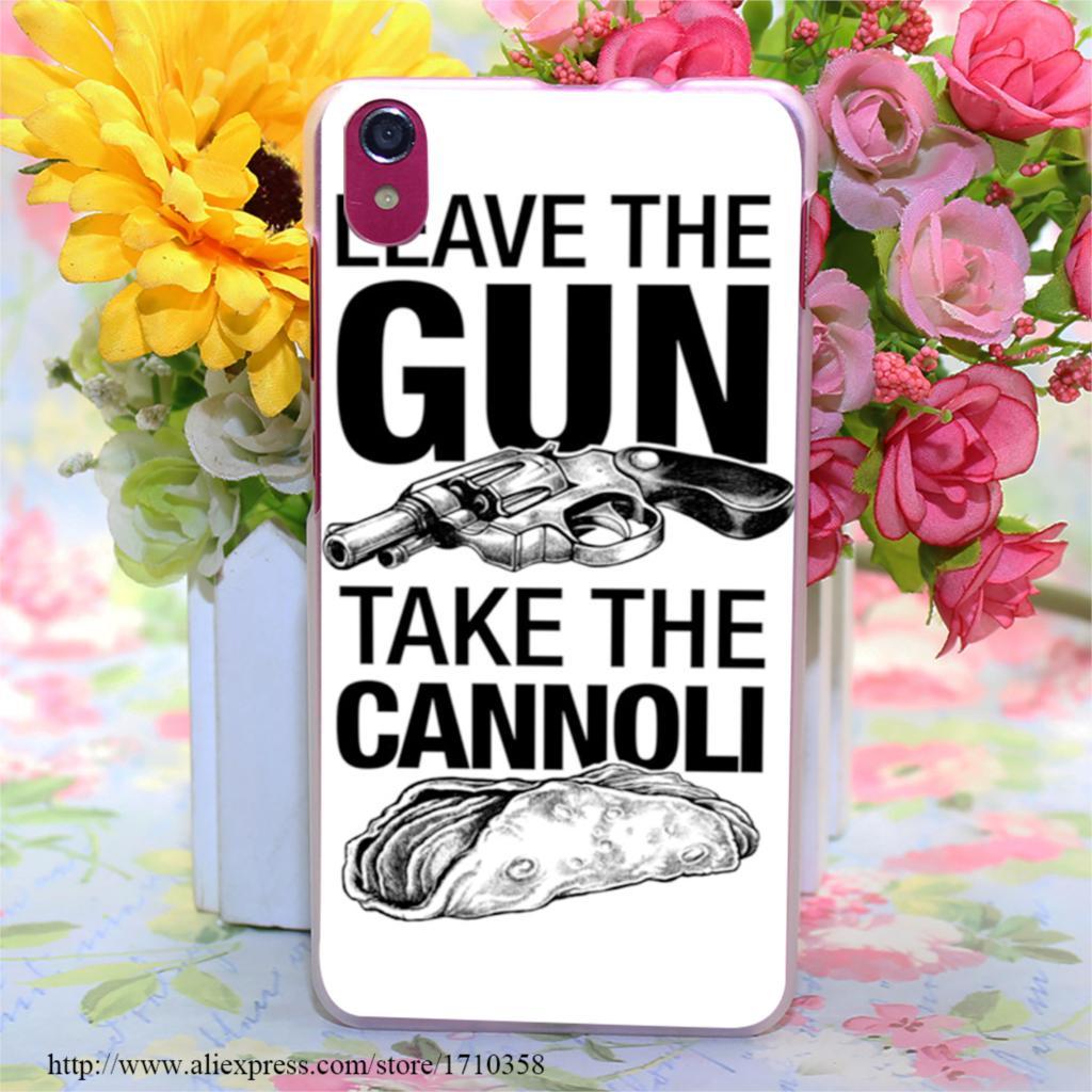 373177B leave the gun take the cannoli Style Transparent Hard Case Cover for Lenovo S850 S850T S60 S90 A563 A328 A328T(China (Mainland))