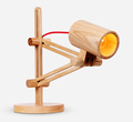 Loft Style American Country Industrial Vintage Personality Retro Wooden Table Light Bedroom Study Table Lamp Free