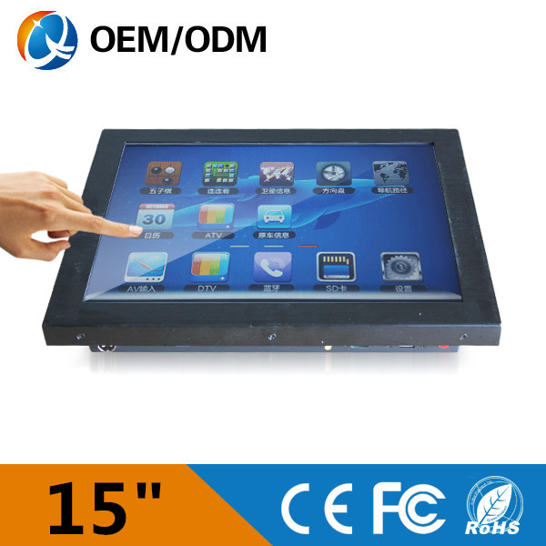 Fanless and noiseless 15 inch industrial computers all in one pc AIO PC with wifi / 32G SSD / 2GB RAM (QY-15C-JCAA)(China (Mainland))