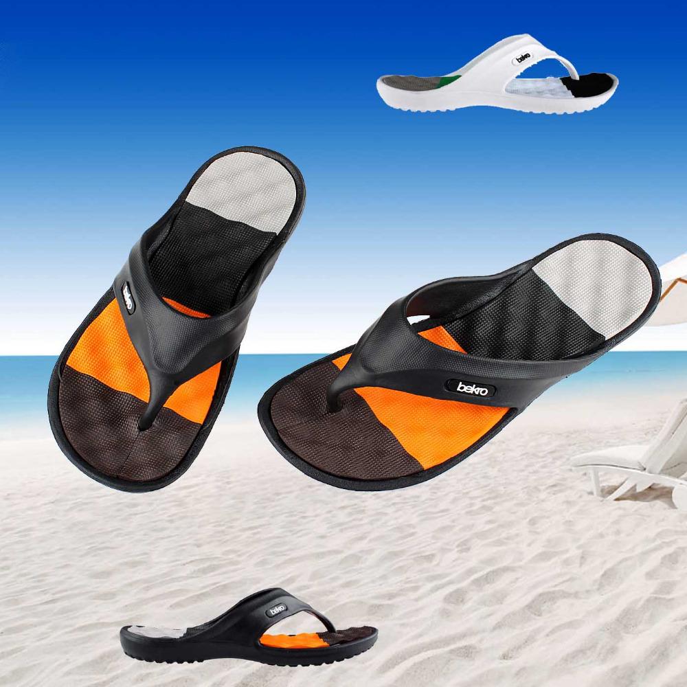 Hot Sale New 2015 Summer EVA Shoes Fashion Flip Flops Men Sandals,Male Flat,Massage Beach Slippers Black White,Plus Size 41 - 45(China (Mainland))