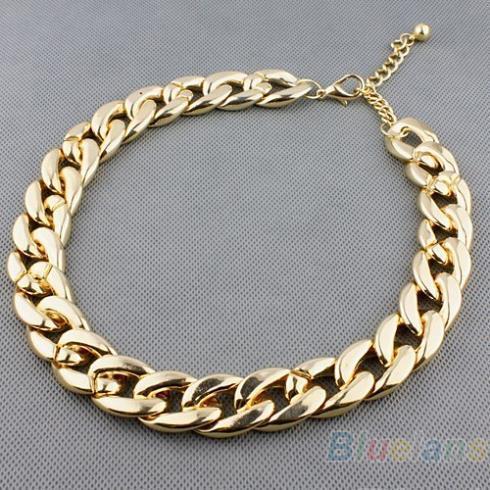 Женщины европа и соединенные штаты all-матч толщиной колье блестящий цепи ожерелье ...