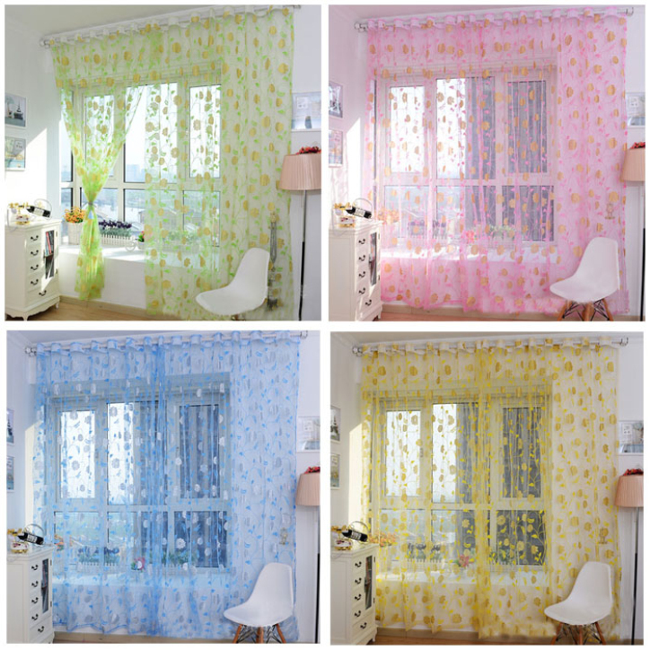 Hot Marketing Hot Sales!Warm Printing Curtain Floral Screens Bedroom Home Curtain 200X100cm May11(China (Mainland))
