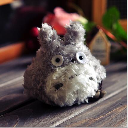 1pcs  8cm Keychain Doll Toy Kawaii My Neighbor Totoro Plush Stuffed Toy Doll Bag Pendant Toy Wedding Bouquet Toy Doll