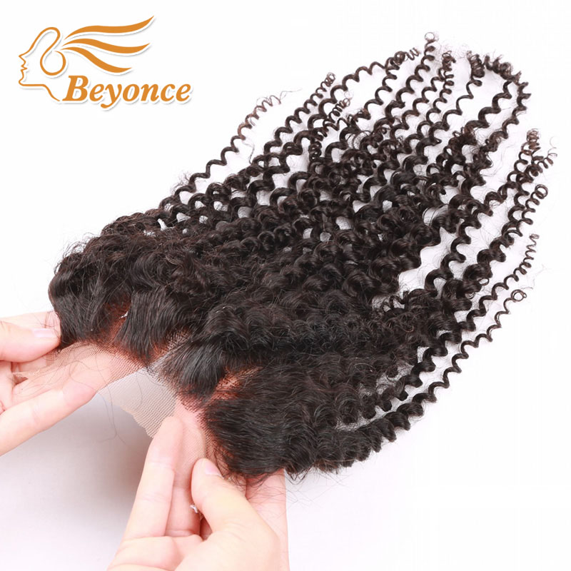 Cheap Virgin Hair Brazilian Kinky Curly Lace Closure Bleached Konts For Sale 4*4 Natural Color Afro Kinky Curly Hair Closure<br><br>Aliexpress