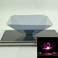 New 3D mobile phone projector 3D holographic projection naked eye 3D pyramid(China (Mainland))