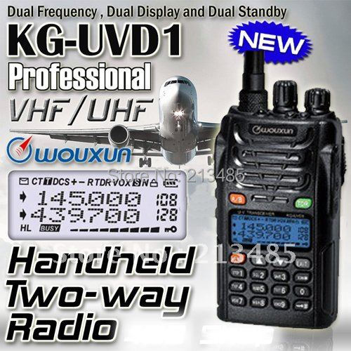 Hot sale Dual Band Dual Display WOUXUN KG-UVD1P VHF & UHF Two-way radio