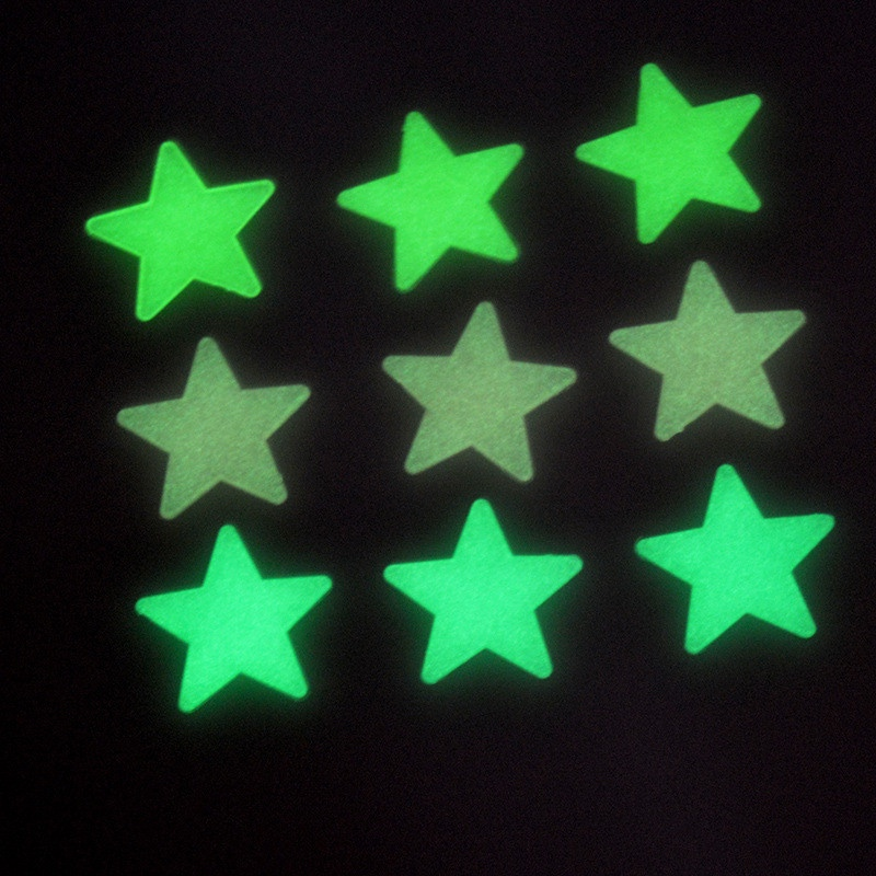 New Hot 70pcs/pack 3.5cm 3D Stars Glow In The Dark Luminous Fluorescent Plastic Wall Stickers Living Home Decor For Kids Rooms