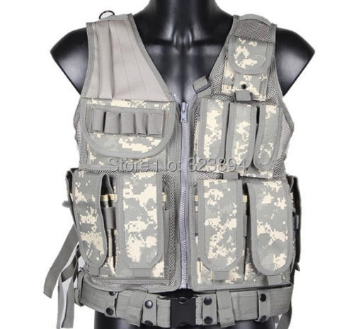 Tactical Vest With Pistol Holster Vest With Pistol Holster