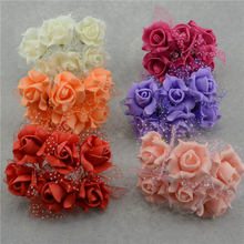 Artificial PE Pentagon lace rose flowers