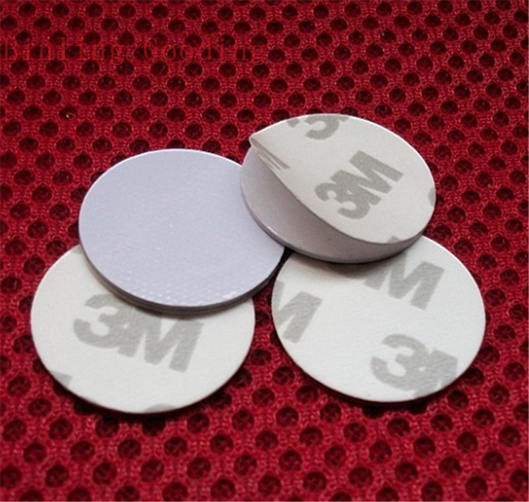 13.56MHZ NFC Tags Ntag213/Ntag203 ISO14443A NFC Coin Card With 3M Adhesive Sticker(25mm)Support Any NFC Function Smart Phone(China (Mainland))