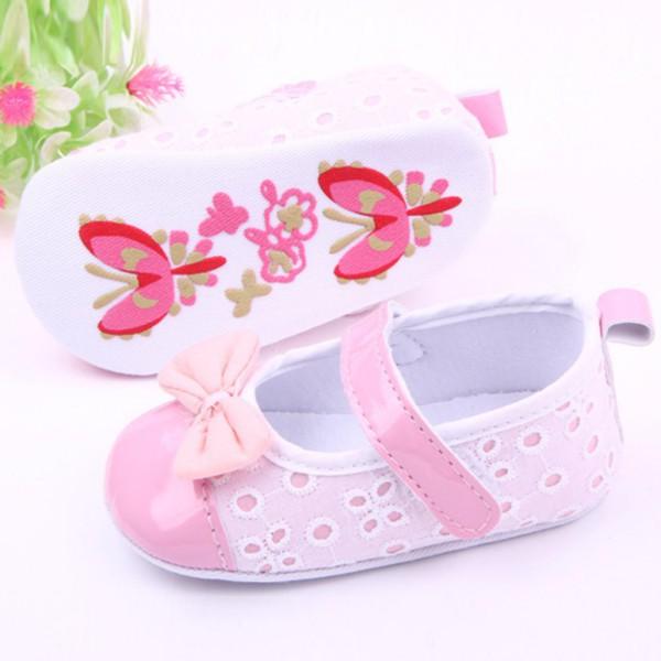 Promotion Newborn Girls Princess Pu Leather Crib Shose Toddler Soft Sole Bowknot Prewalker<br><br>Aliexpress