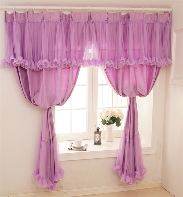 kids room curtains finished-curtains purple jacquard cortinas cortinas visillos bedroom tulle blackout curtains knitted pleated(China (Mainland))