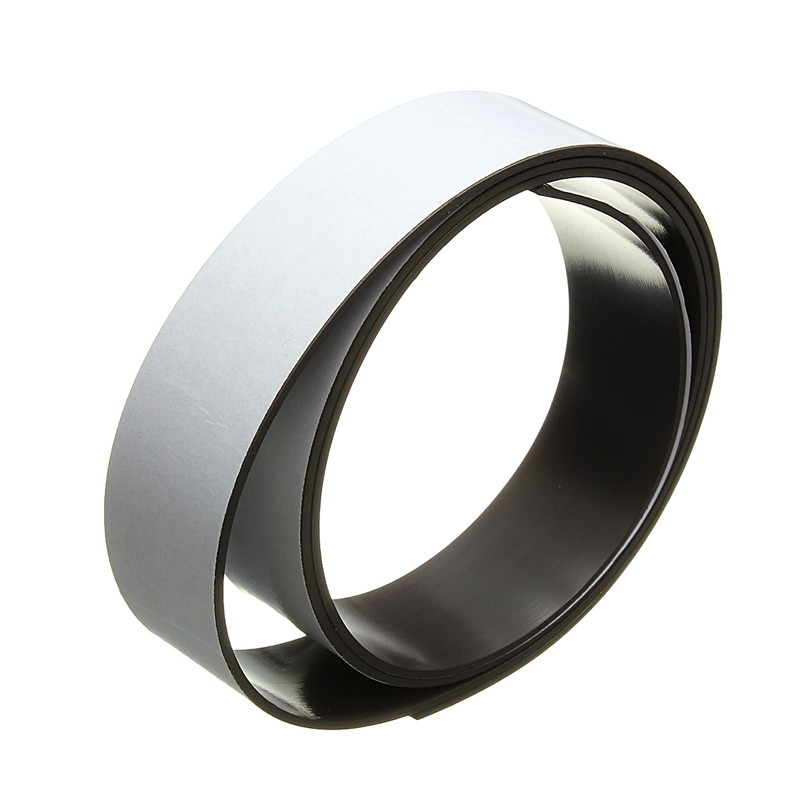 1 Meter 25mm Width 1.5mm Thickness Self Adhesive Flexible Soft Rubber Magnetic Tape Magnet DIY Craft Strip Can be Bent Folded(China (Mainland))