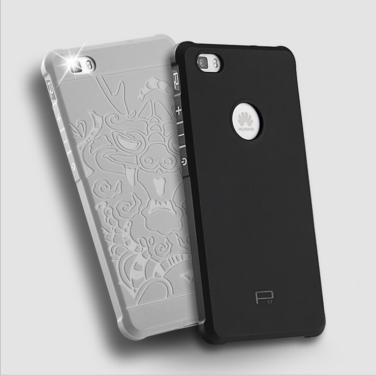 high quality ultra thin silicon hard back cover case for huawei p8 lite carved mobile housing. Black Bedroom Furniture Sets. Home Design Ideas