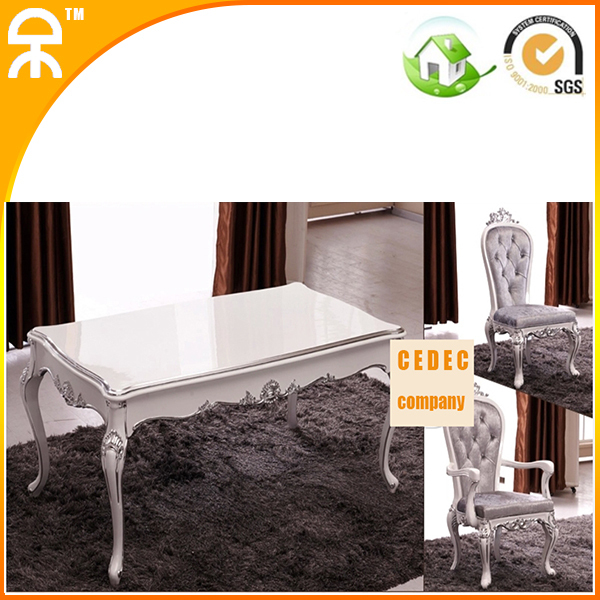 1.8 meter luxury long kitchen table with 6 pcs dining chair CE-FD02(China (Mainland))