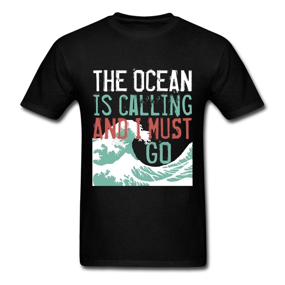 Men's Casual Love Surfing Shirt Short Sleeve Fashion Designer Custom The Call of The Ocean Tshirt For Men(China (Mainland))
