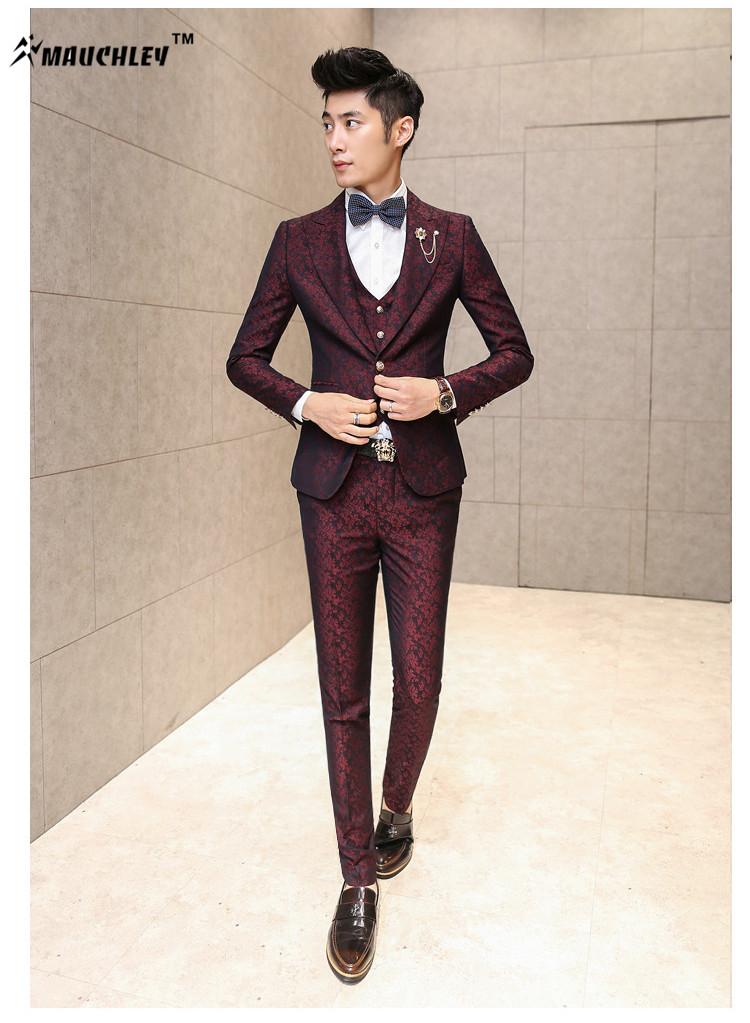 HTB1G.E.QpXXXXbEXpXXq6xXFXXXR - MAUCHLEY Prom Mens Suit With Pants Burgundy Floral Jacquard Wedding Suits for Men Slim Fit 3 Pieces / Set (Jacket+Vest+Pants)