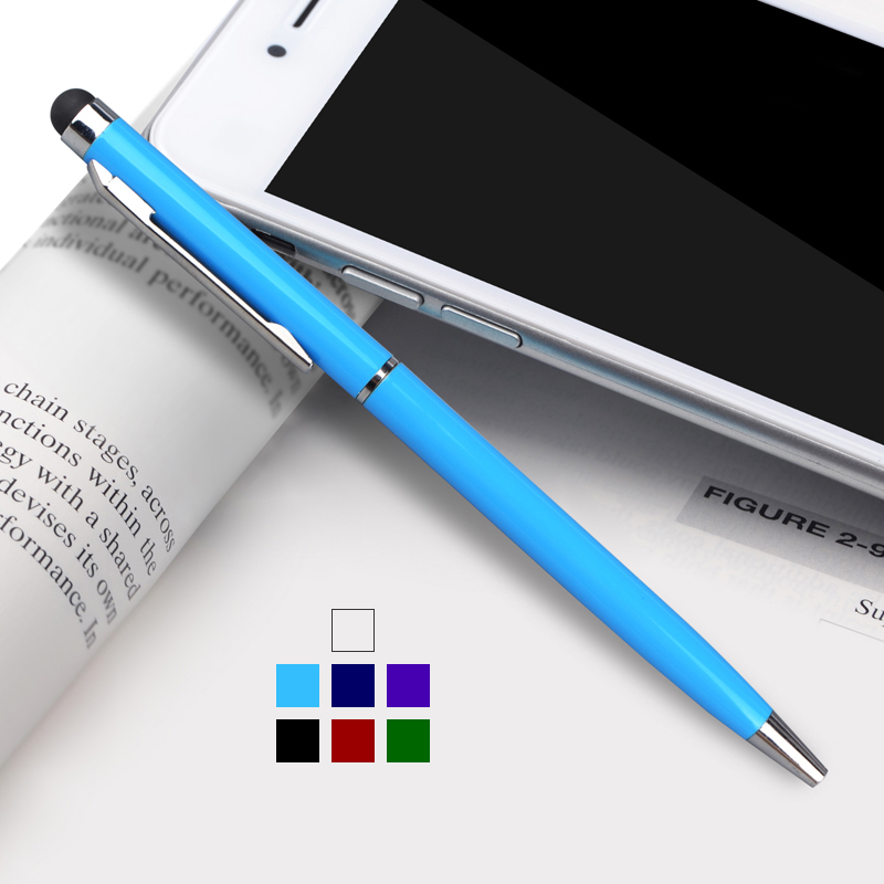 Stylus Pen 2 in 1 Styli Ballpoint Pens Touch Screen Capacitive Pen For Kindle iPhone Samsung Tablet Touch Screen Devices HTP-718(China (Mainland))