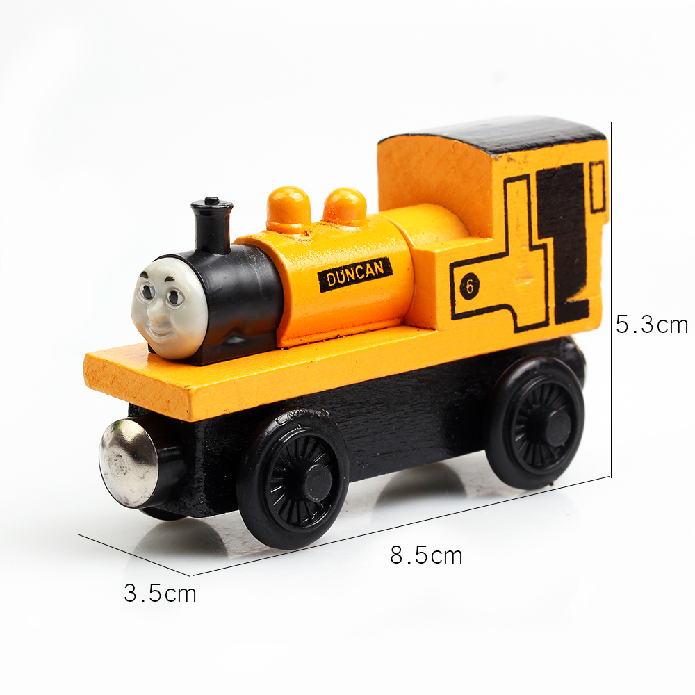 A Series Of Children's Toys Wooden Thomas Train Car Wooden Magnetic Puzzle Toy Cars And Locomotives(China (Mainland))