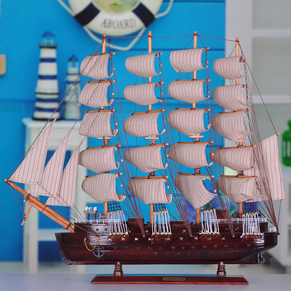 Wool sailboat model decoration desktop office desk crafts(China (Mainland))