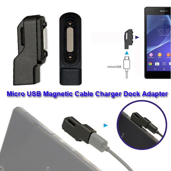 New Micro USB Magnetic Cable Charger Dock Adapter For Sony Xperia Z1/Z2/Z3 Compact(China (Mainland))