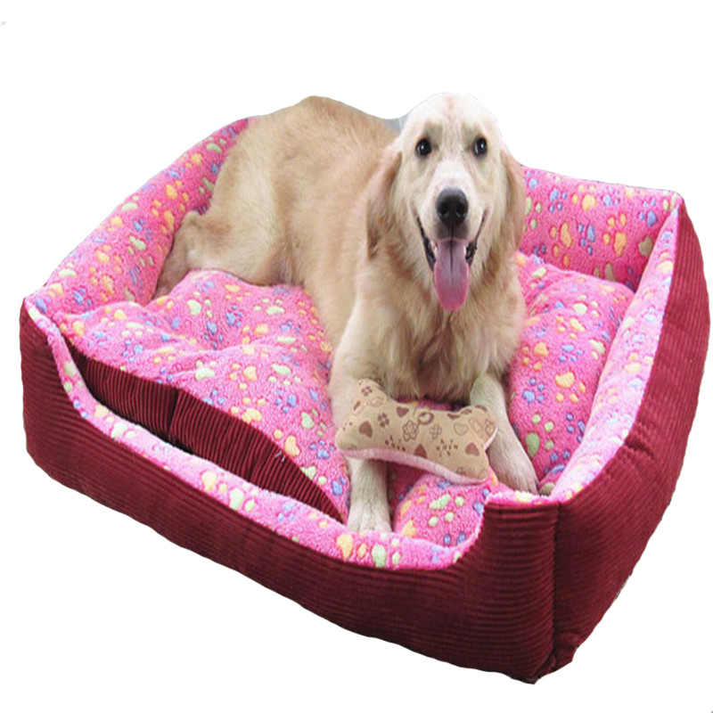 Lovely dot pet dog bed nest Rose Velvet mat warmer soft pet dog house for cat cozy puppy removable washable kennel(China (Mainland))