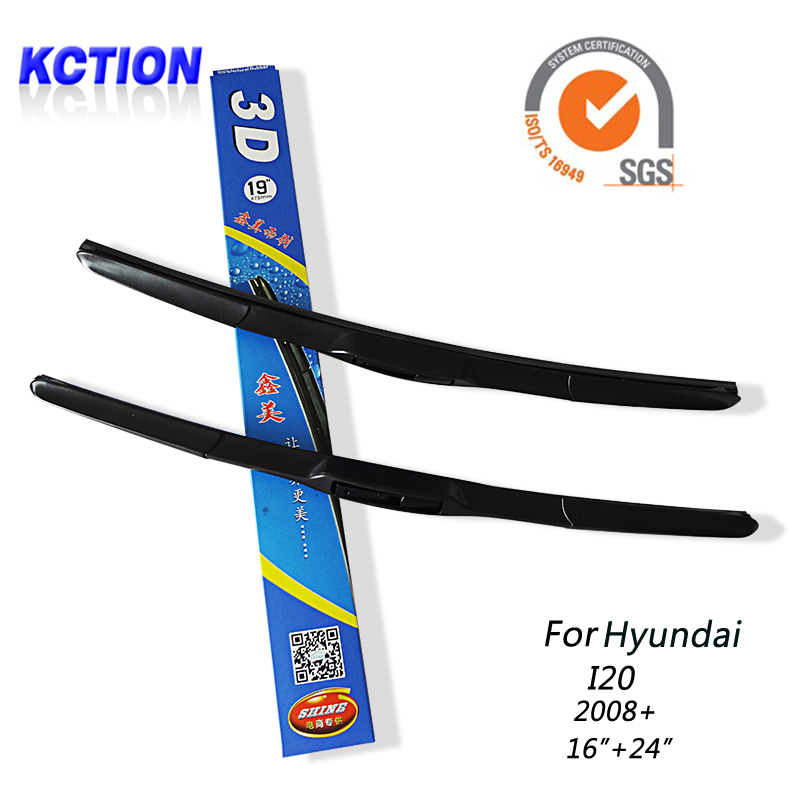 "Car Windshield Wiper Blade For Hyundai I20(2008+),16""+24"",Natural rubber, Three-segmental type , Car Accessories(China (Mainland))"