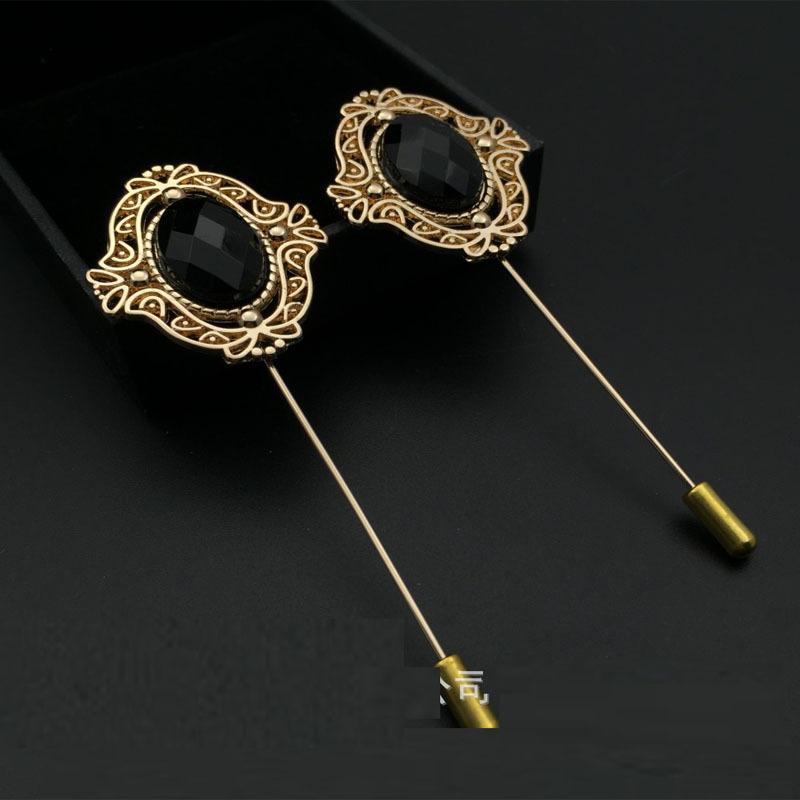 Hot 2016 Fashion Jewelry Gold Silver Chain Flower Lapel Pin Men Suit ...