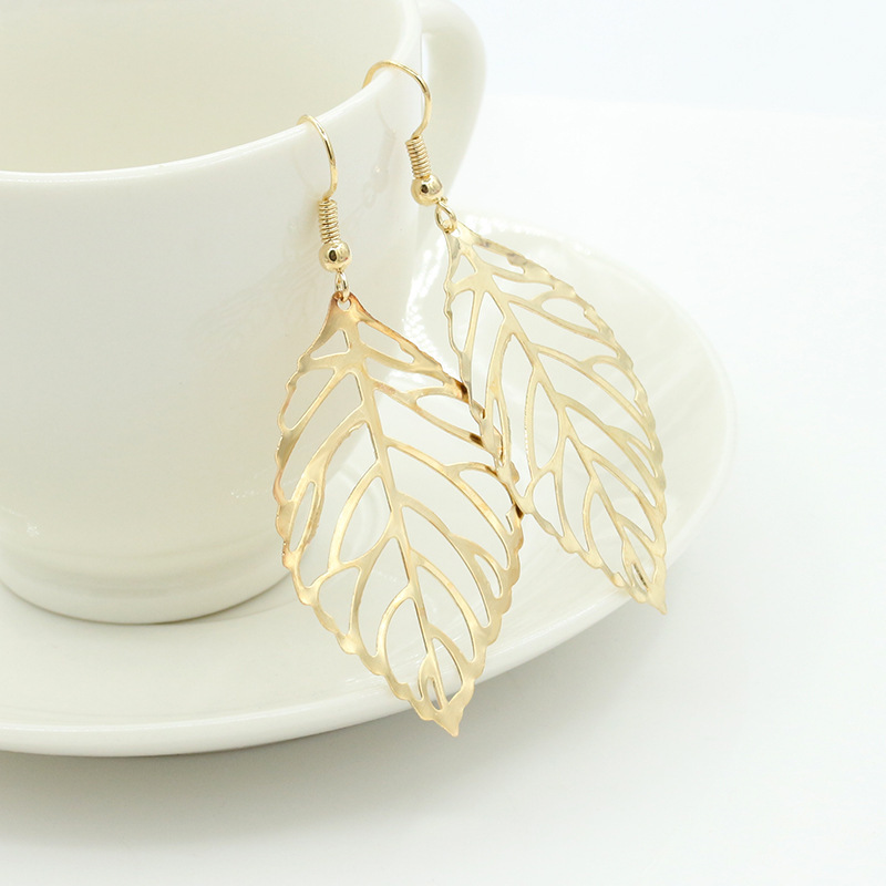 earrings Brincos Fine jewelry orecchini brinco brincos de festa fashion women pendientes gold Forest leaves brand