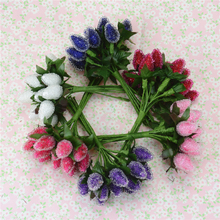Buy Cheap 12pcs Plastic Artificial StrawBerry Flower Bouquet Wedding Decoration DIY Scrapbooking Decorative Wreath Fake Flowers for $1.03 in AliExpress store