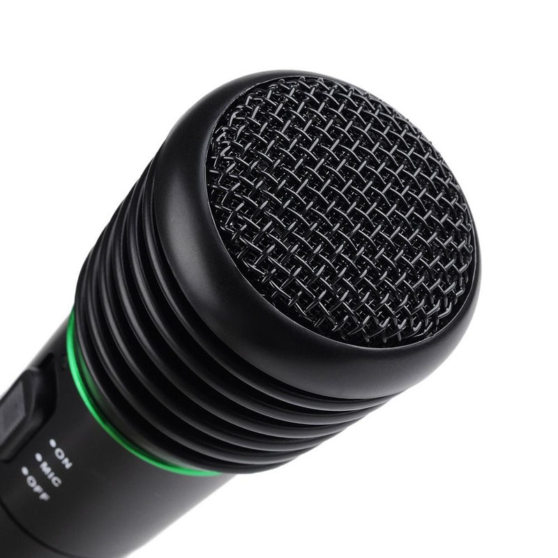 2015 Pro 2in1 New Wired Wireless Handheld karaoke Singing Microphone Mic speeches Receiver System Undirectional High Quanlity(China (Mainland))