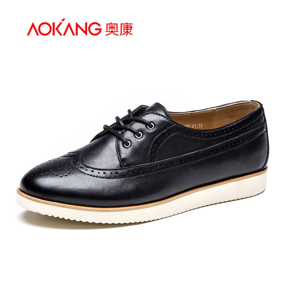 AOKANG 2015New Arrival Women Brogue shoes Casual Shoes British style shoes<br><br>Aliexpress