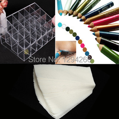 Display Holder Organizer + 100pcs Hair Removal Paper + 12 Color Eyeshadow Pen A1681+ A1690+ A1992 fI4G(China (Mainland))