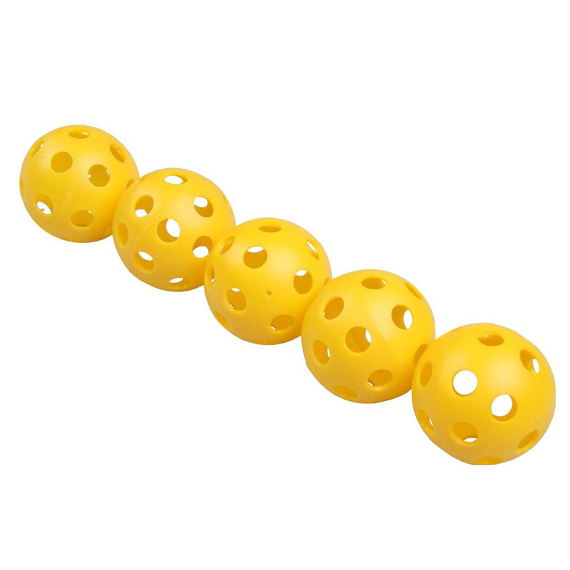 High Quality 5 Pcs Plastic Whiffle Airflow Hollow Golf Practice Training Sports Balls Free Shipping(China (Mainland))