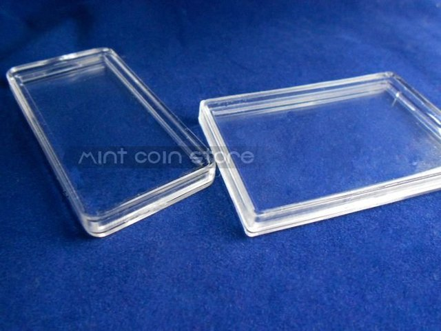 1OZ BAR/BULLION PLASTIC BOX CLEAR PLATIC BOX, 1PCS/LOT