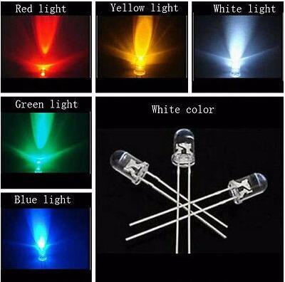 Гаджет  100pcs 5mm LED Light Assorted Kit DIY LEDs Set White Yellow Red Green Blue None Электронные компоненты и материалы